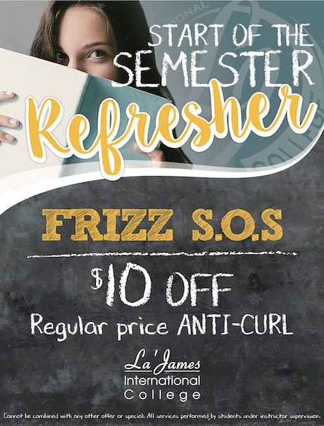 Semester Refresher Frizz Coupon