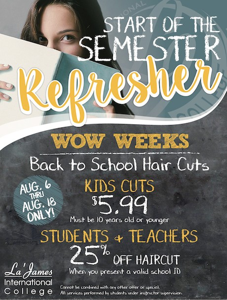 Semester Refresher Hair Cut Coupon