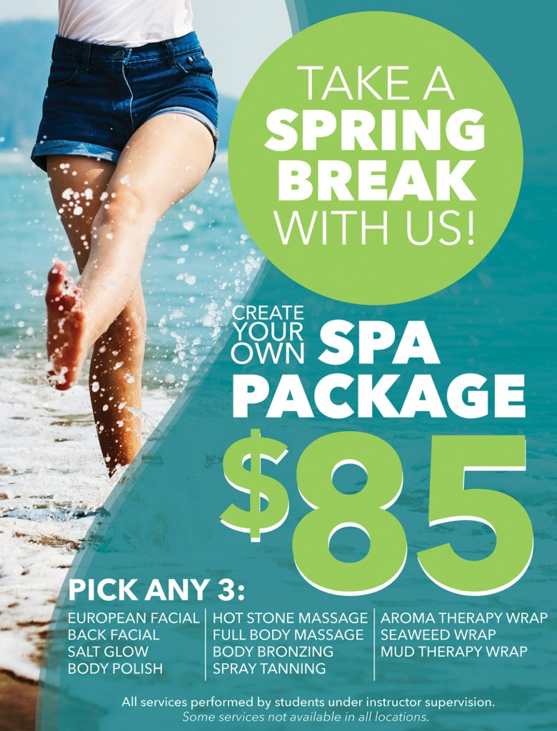 Spring Break Spa Package Poster