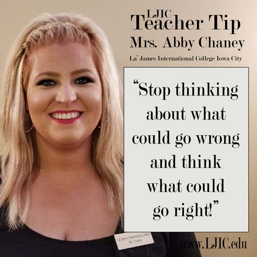 Stop thinking about what could go wrong - Teacher Tip from Mrs ...