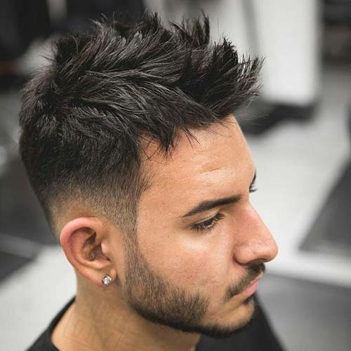 Dapper Haircut Low Taper Fade With Messy Spikes La James