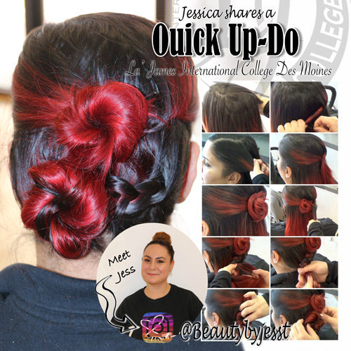 la-james-international-college-des-moines---quick-updo