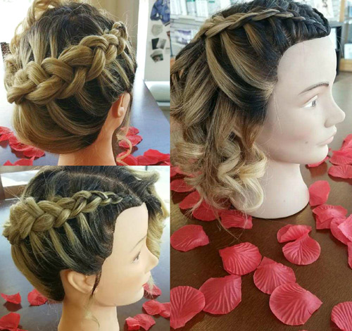 Mannequin half up-do hair style