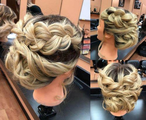 Blonde mannequin up-do