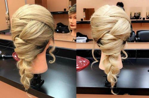 Blond mannequin hair braid