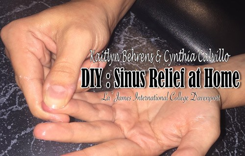 DIY sinus relief