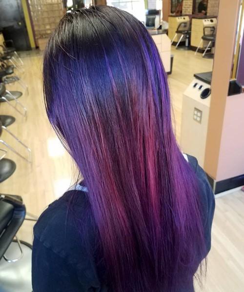 Purple and Pink Hair Color
