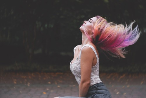Multi Color Hair in the Park