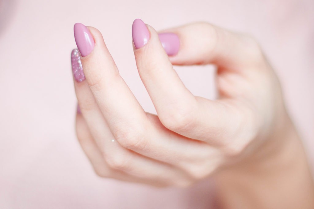 Pink Nails Close up