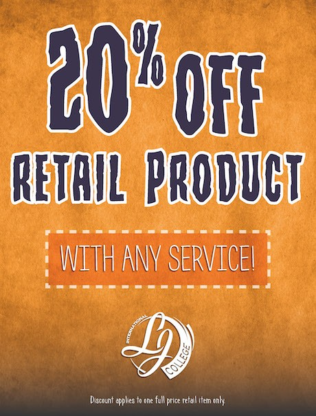 20% off retail product